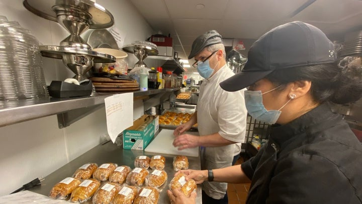 Coronavirus pandemic: NY Restaurant makes thousands of meals for first responders