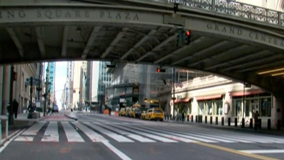 NYC streets empty amid coronavirus pandemic