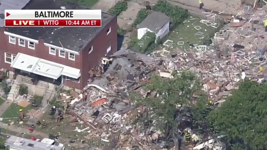 Gas explosion destroys homes in Baltimore, one confirmed dead