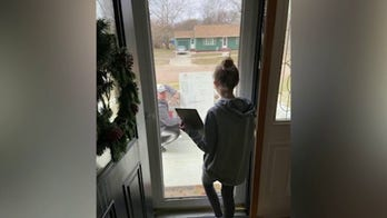 Math teacher brings lesson to student's front porch after she had a question about her homework