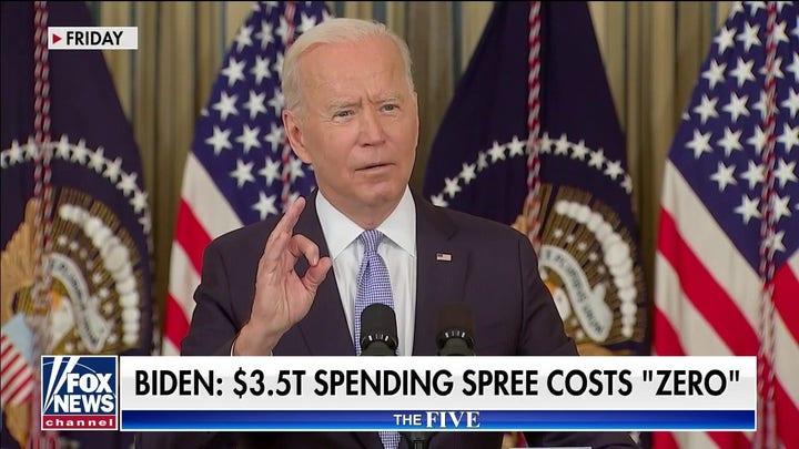 Biden claims $3.5 trillion spending spree costs 'zero'