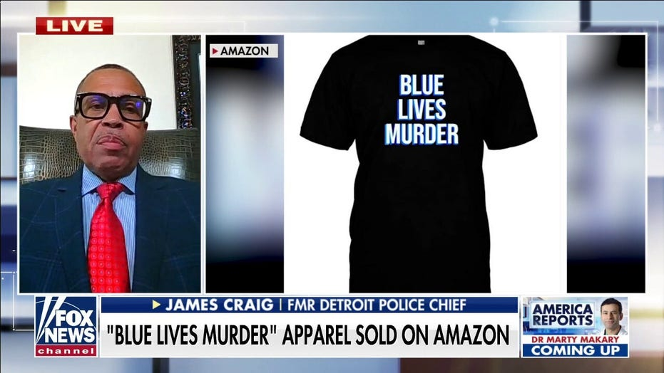 Former Detroit police chief slams Amazon for 'Blue Lives Murder' apparel: 'It's hypocrisy and it's wrong'