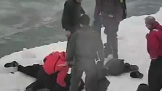 Chicago police officers pull man from Lake Michigan on 'coldest day of the year'