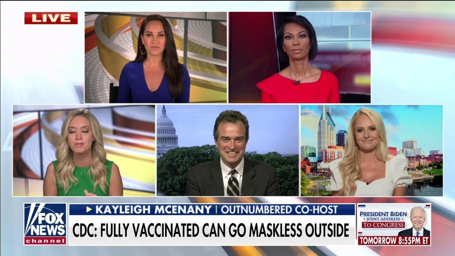 'Outnumbered' on CDC saying vaccinated people don't need masks outdoors