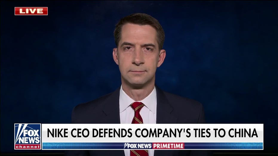 Sen. Cotton: Nike's message towards genocide in China is 'Just Do It'