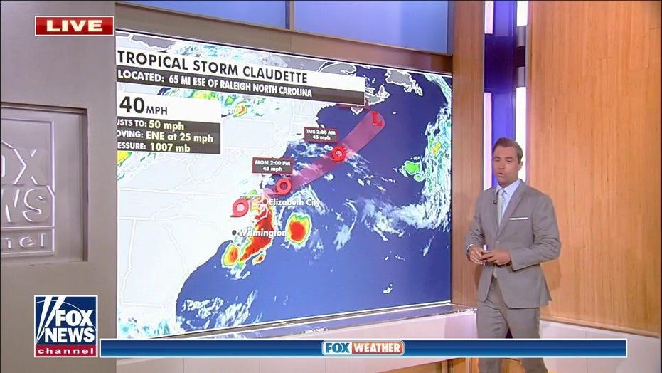 National weather forecast: Tropical Storm Claudette impacting North Carolina
