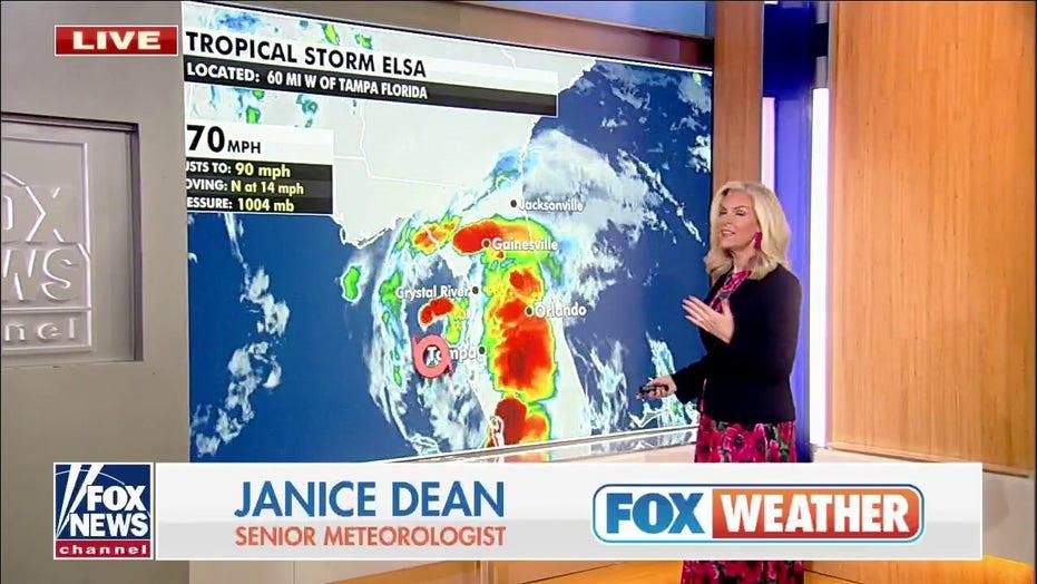 Tropical Storm Elsa weakens, heat persists in West