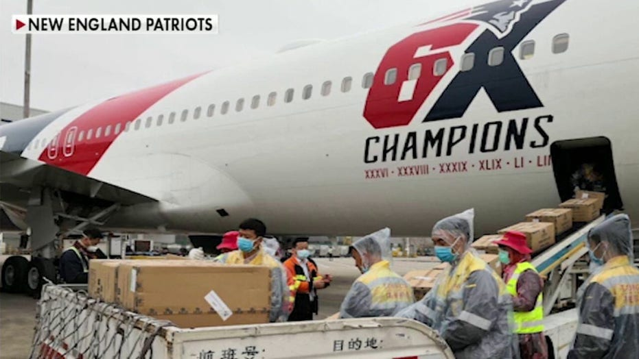 New England Patriots fly 1.2 million N95 masks to US from China