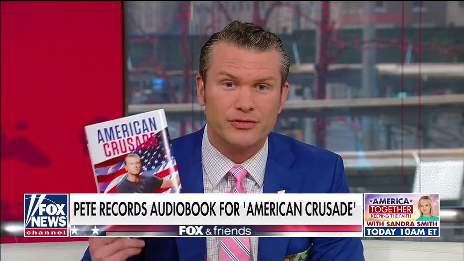 Pete Hegseth records audiobook for 'American Crusade'