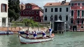 Tourists slowly beginning to return to Venice, Italy