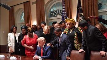 President Trump called 鈥渇irst black鈥� president at Black History month event