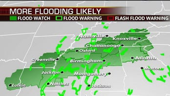 Flash flood, 'excessive rainfall' risk across South due to widespread rain through midweek, forecasters say