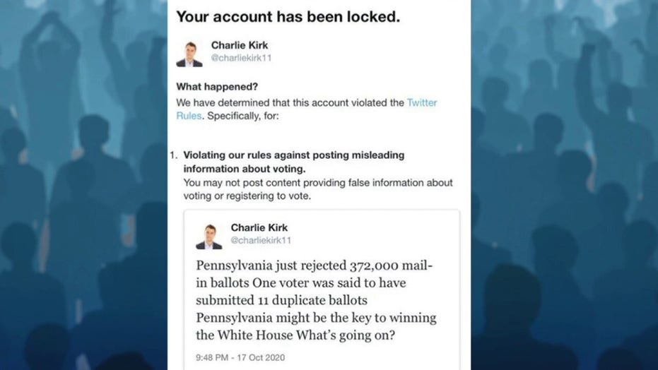 Charlie Kirk says he's in 'a hostage situation' with Twitter after social media giant blocks his account