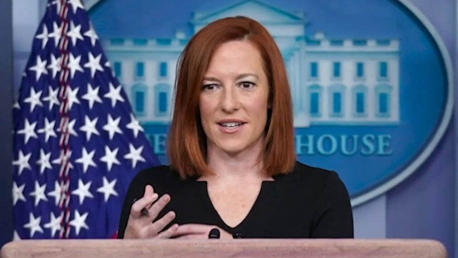 White House press secretary Jen Psaki holds a briefing