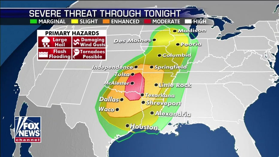 Map Of Texas Storms.Severe Weather Threat For 60 Million Strong Storms Likely From