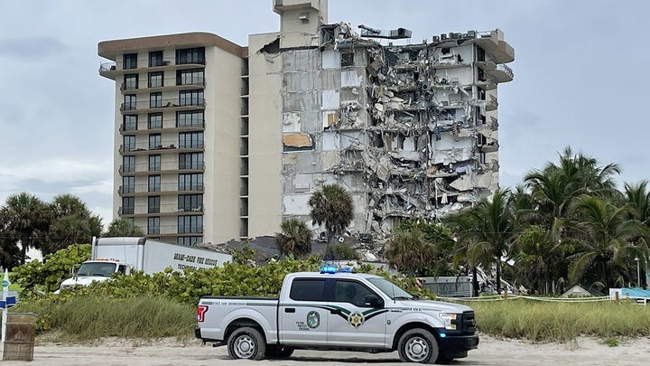 Florida first responder radio depicts chilling moments as rescuers responded to Surfside apartments collapse