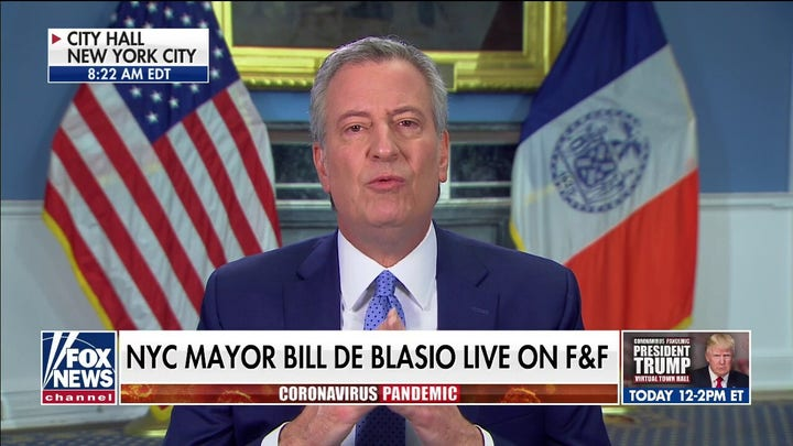 Mayor De Blasio calls for U.S. military to mobilize in New York City