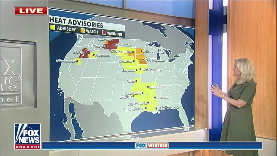 Strong storms possible in upper Midwest; heat, humidity move into central US