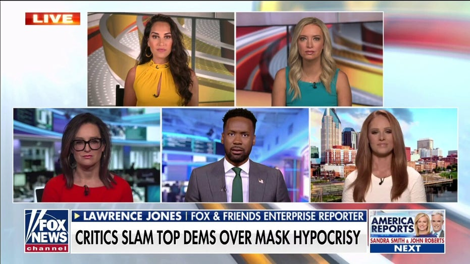'Outnumbered' calls out top Democrats for mask, COVID hypocrisy: 'Their actions betray their beliefs'