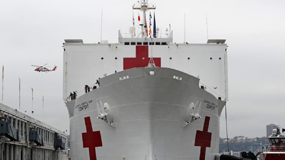 USNS Comfort begins accepting patients to ease strain of COVID-19 in New York City
