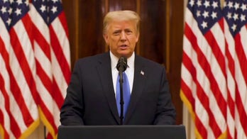 President Trump delivers administration's farewell address