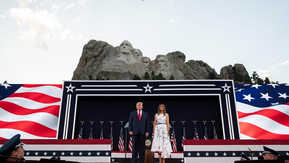 President Trump and The First Lady, Melania, host the 2020 'Salute to America'