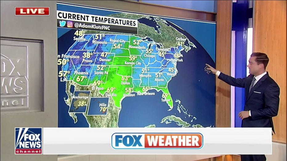 Above-average weather forecast for East, West to see rain and mountain snow