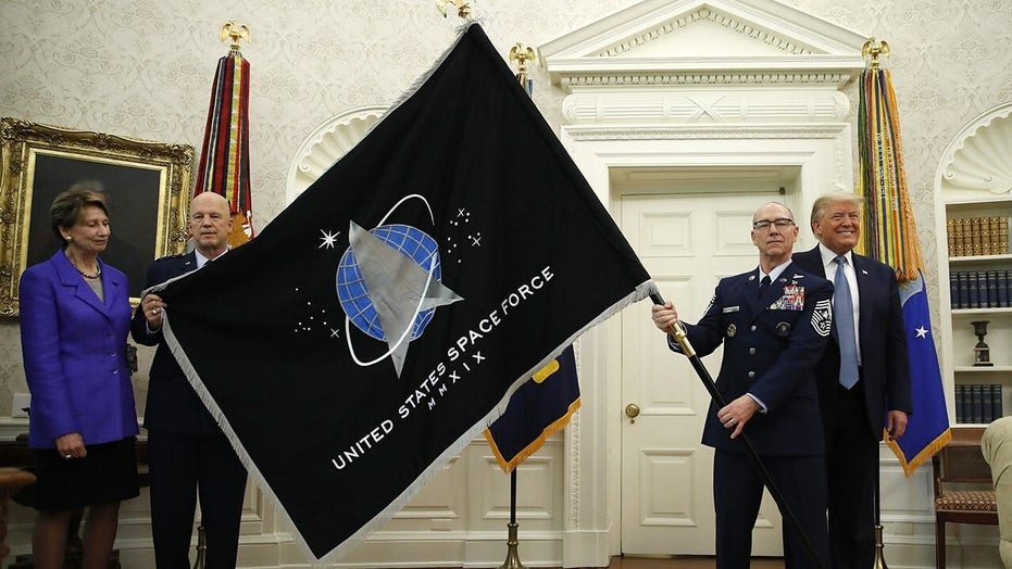 President Trump holds presentation of US Space Force flag
