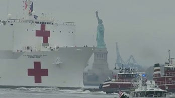 USNS Comfort docks in NYC 12 days early to bring relief to hospitals