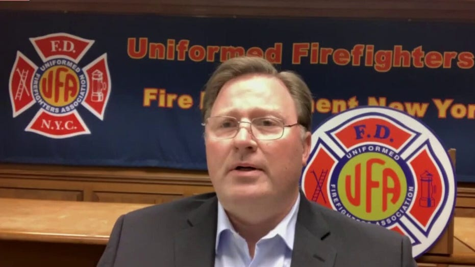 Head of NYC firefighters union: About half my members are wary of COVID-19 vaccine