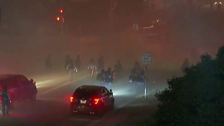 Law enforcement officers advance in Minneapolis