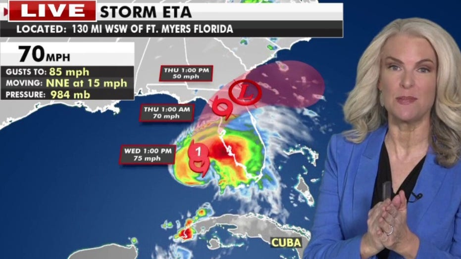 Hurricane Eta regains strength, takes aim at Florida's West Coast