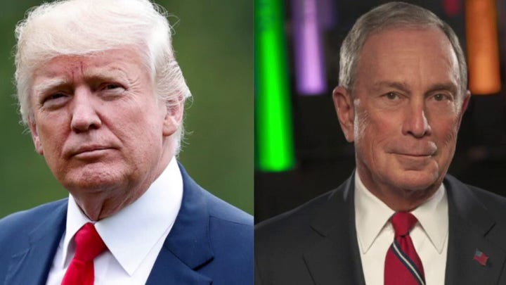 President Trump and Michael Bloomberg trade insults