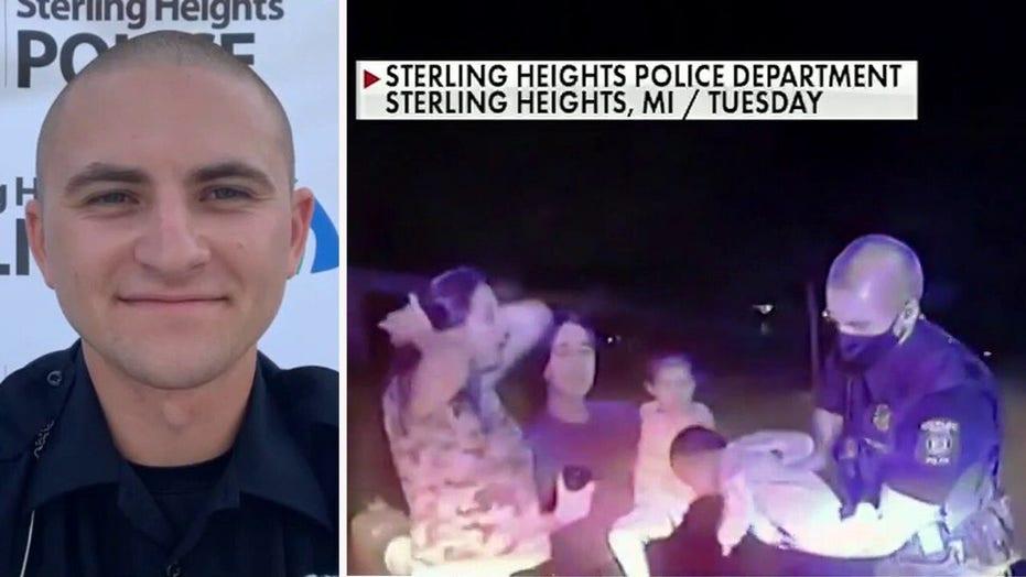 Michigan police officer on saving choking 3-week-old baby