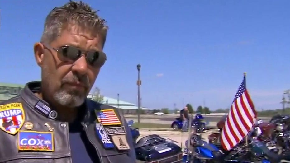 'Bikers for Trump' show up in Wisconsin to stand with police, oppose DNC