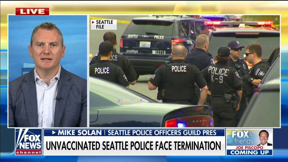 Seattle residents will 'pay the price' as unvaccinated cops face termination, says union official