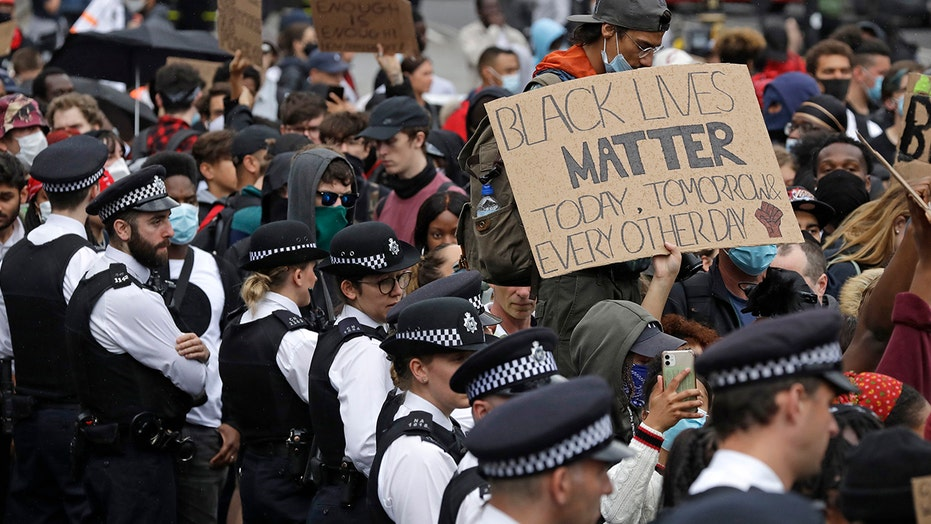 Protesters clash with police in London as George Floyd unrest goes global
