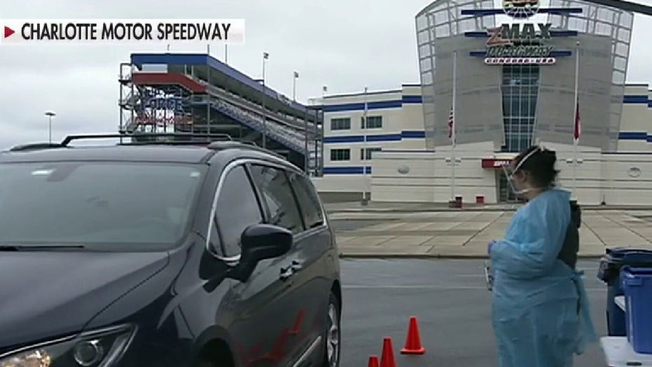 Hospital system sets up coronavirus testing sites at Charlotte Motor Speedway