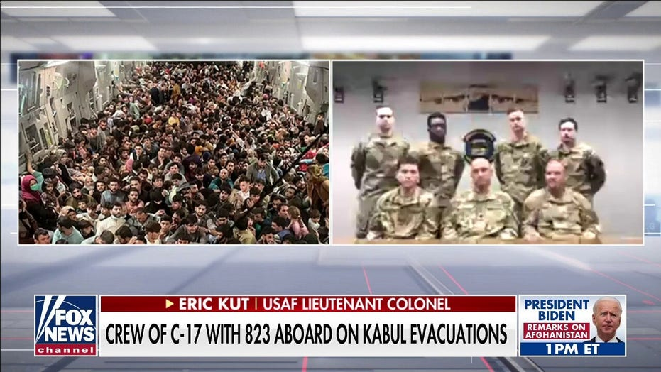 Air Force crew describes packed flight out of Kabul on 'America's Newsroom': We delivered hope and freedom