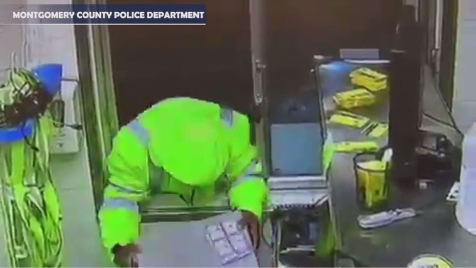 McDonald's drive-thru armed robbery caught on video as Maryland police look to ID suspect