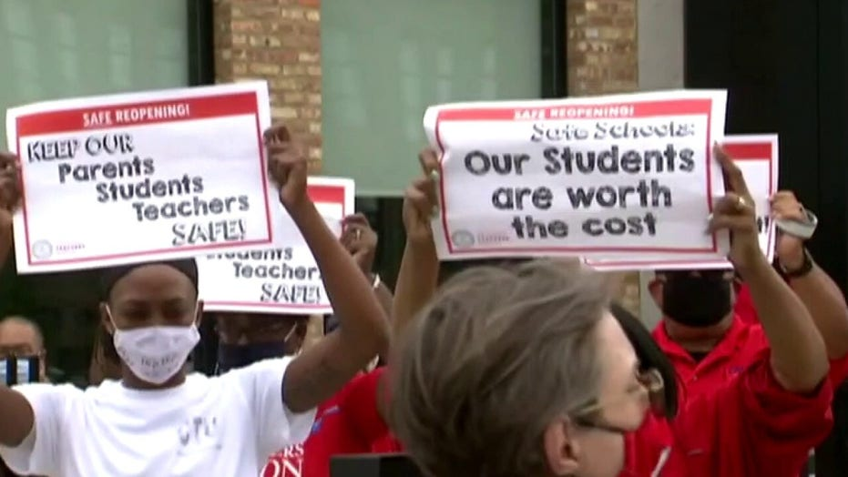 Chicago teachers protest plan to reopen schools amid the coronavirus pandemic