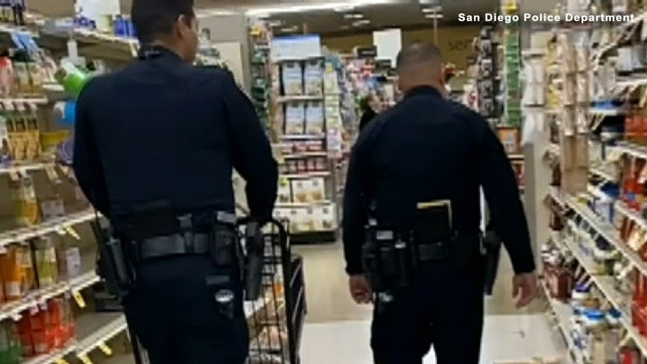 San Diego police bought groceries for a 95-year-old man