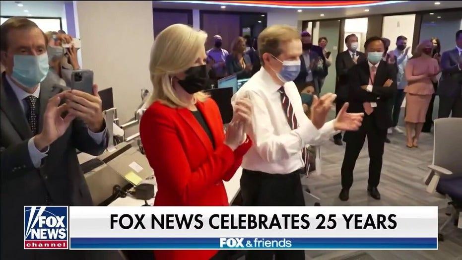Fox News Channel celebrates 25 years on the air, unveils renovated Washington bureau