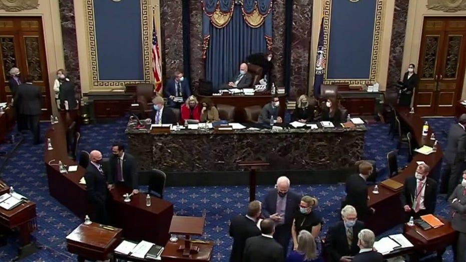 Sen. Ron Johnson shows frustration with Sen. Mitt Romney during impeachment vote