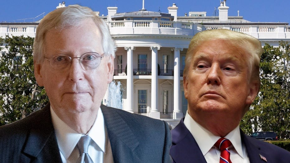 Trump blasts 'dour, sullen, and unsmiling political hack' McConnell