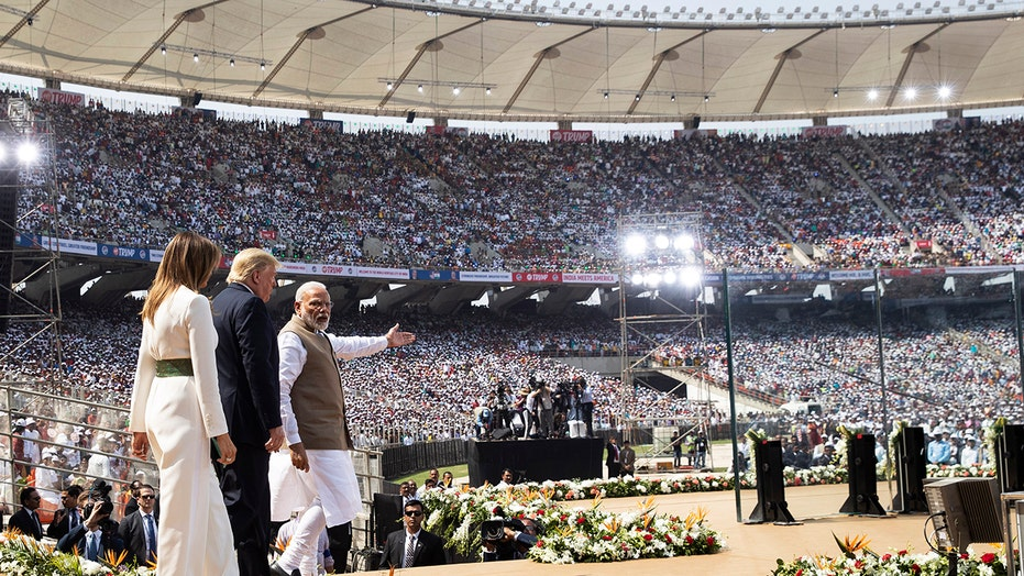 Namaste Trump: President holds India rally at world's largest cricket stadium