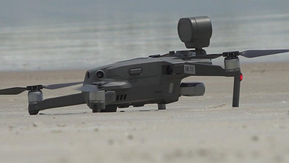 Drones promoting social distancing amid coronavirus outbreak