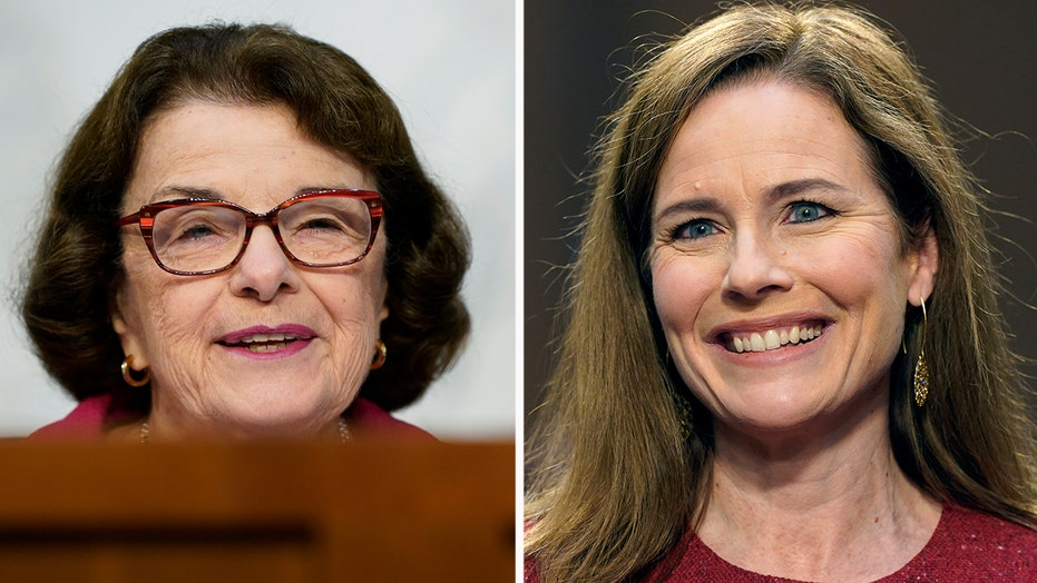Barrett cites 'Ginsburg Rule' of 'no hints, no previews' when pressed by Dems on hot-button issues