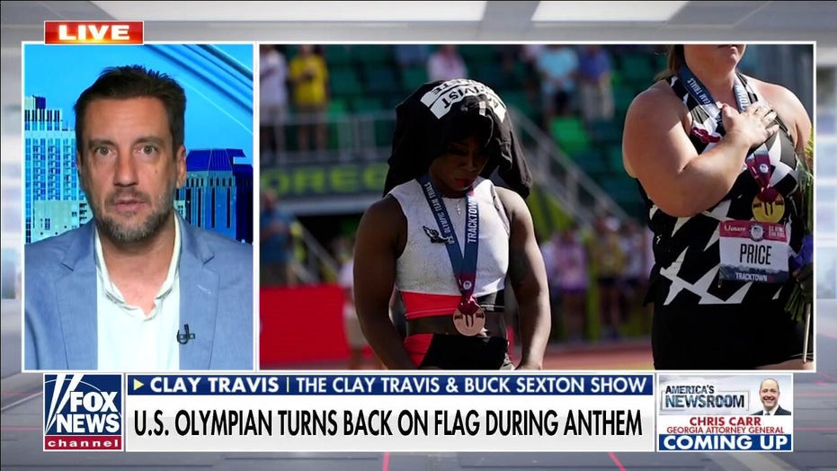 Clay Travis on US Olympian turning back on flag: Athletes 'looking for their Colin Kaepernick payday'