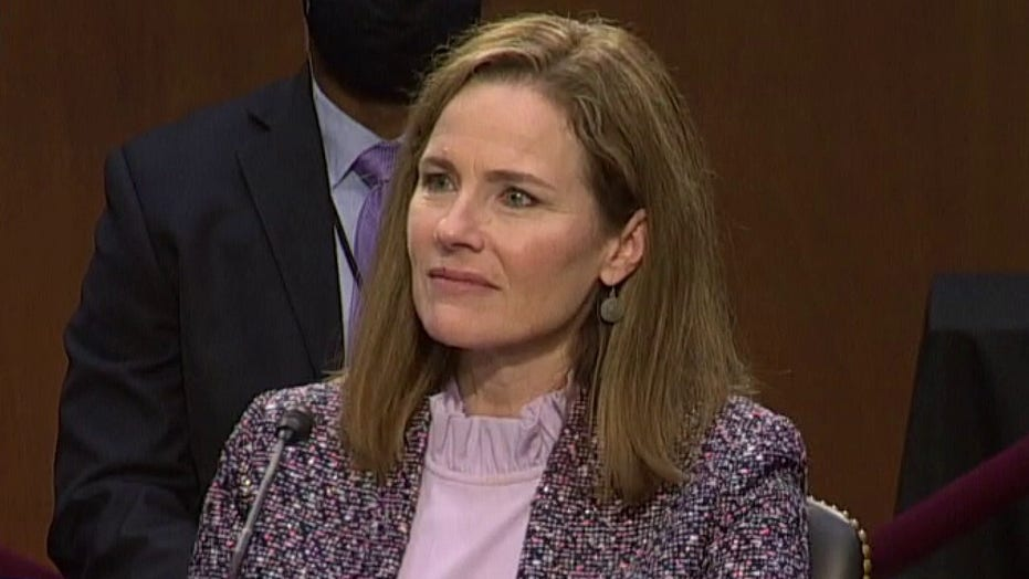 Amy Coney Barrett tells Democratic senator: 'I hope you aren't suggesting I don't have my own mind'